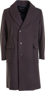 Brązowy płaszcz męski Emporio Armani