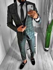 Zielony garnitur Duuf