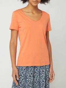 Pomarańczowa bluzka ARMEDANGELS z krótkim rękawem z bawełny