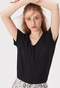 T-shirt Sinsay w stylu casual z dekoltem w kształcie litery v