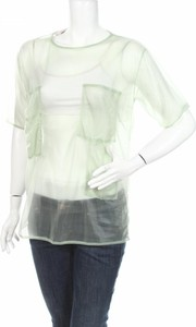 Zielona bluzka Maison Martin Margiela z krótkim rękawem