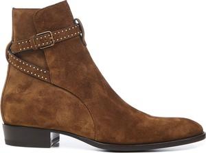 Brązowe buty zimowe SAINT LAURENT