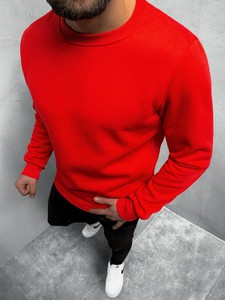 Czerwona bluza ozonee.pl w stylu casual