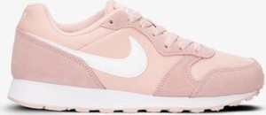 Różowe buty sportowe Nike z płaską podeszwą w sportowym stylu md runner