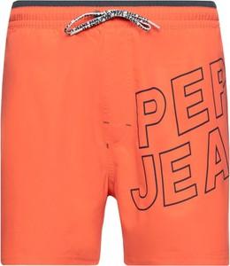 Pomarańczowe kąpielówki Pepe Jeans