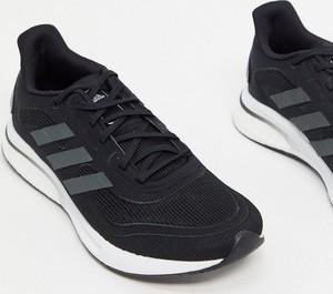 Czarne buty sportowe Adidas Performance sznurowane
