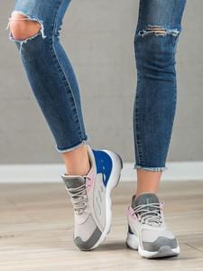 Buty sportowe Czasnabuty sznurowane w sportowym stylu z płaską podeszwą