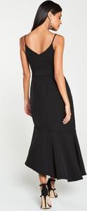 Czarna sukienka V by Very asymetryczna