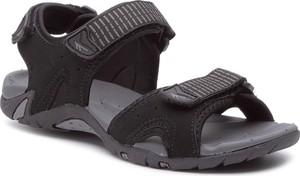Brązowe buty letnie męskie Hi-Tec na rzepy w stylu casual