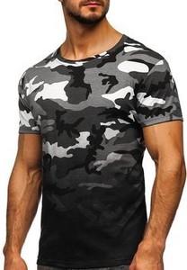 T-shirt Denley z bawełny z krótkim rękawem
