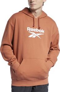 Brązowa bluza Reebok z bawełny w sportowym stylu