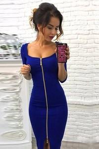 Niebieska sukienka IVET.PL midi