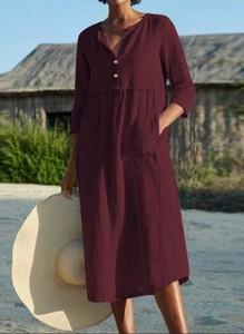 Sukienka Sandbella maxi koszulowa