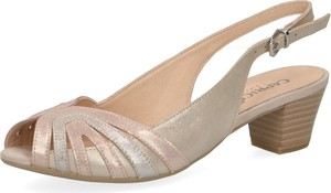 Sandały Caprice w stylu klasycznym na obcasie z klamrami