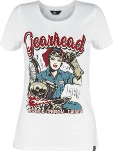 T-shirt Emp z okrągłym dekoltem z bawełny z krótkim rękawem