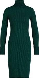 Zielona sukienka Guess w stylu casual z golfem