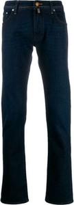 Niebieskie jeansy Jacob Cohen w stylu casual