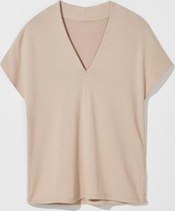 Bluzka Mohito z dekoltem w kształcie litery v w stylu casual z krótkim rękawem