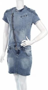 Niebieska sukienka Circle of Trust mini koszulowa z krótkim rękawem