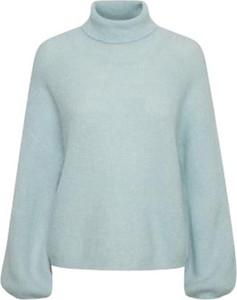 Niebieski sweter Gestuz w stylu casual z moheru