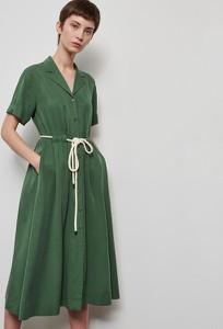 Zielona sukienka Reserved midi
