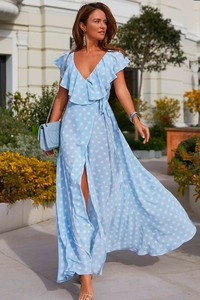 Sukienka Ivet.pl kopertowa z krótkim rękawem