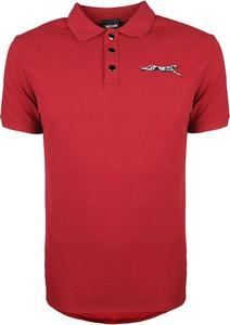 Koszulka polo Just Cavalli z bawełny z nadrukiem z krótkim rękawem