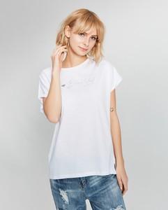 T-shirt FEMESTAGE Eva Minge z okrągłym dekoltem z krótkim rękawem w stylu casual