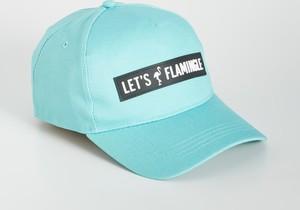 Turkusowa czapka Sinsay z nadrukiem w młodzieżowym stylu