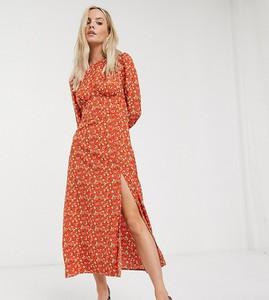 Pomarańczowa sukienka Fashion Union Petite maxi