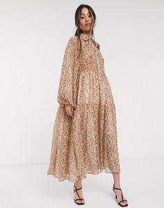 Sukienka Ghospell maxi oversize z długim rękawem