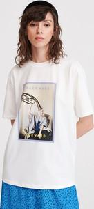 T-shirt Reserved z krótkim rękawem z okrągłym dekoltem w stylu casual