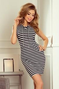 Granatowa sukienka NUMOCO bez rękawów mini
