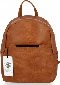 Brązowy plecak Bee Bag ze skóry ekologicznej