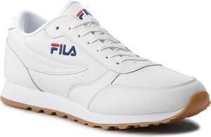 Buty sportowe Fila sznurowane ze skóry ekologicznej