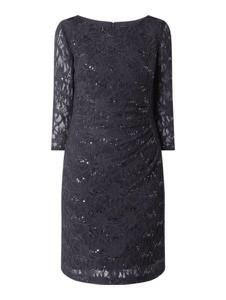 Sukienka Christian Berg Cocktail mini z długim rękawem z okrągłym dekoltem