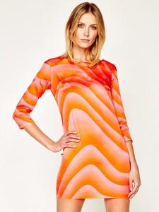 Sukienka Just Cavalli w stylu casual mini z długim rękawem