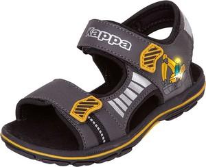 Czarne buty dziecięce letnie Kappa