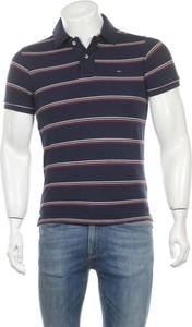 Niebieski t-shirt Hilfiger Denim z krótkim rękawem z bawełny