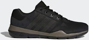 Czarne buty trekkingowe Adidas z nubuku