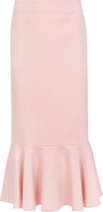 Różowa spódnica Makover z tkaniny midi