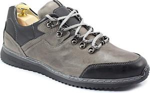 Buty trekkingowe Kent sznurowane w sportowym stylu ze skóry