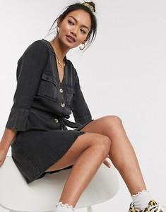 Czarna sukienka Wednesday`s Girl z jeansu