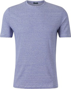 Niebieski t-shirt Zanone w stylu casual