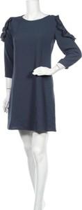 Sukienka Teddy Smith mini z okrągłym dekoltem z długim rękawem