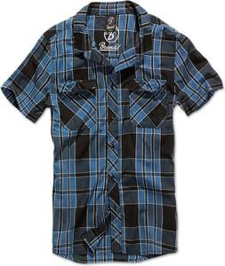 Niebieska koszula Brandit z krótkim rękawem