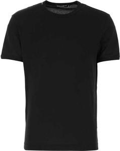 Czarny t-shirt Dolce & Gabbana z bawełny w stylu casual