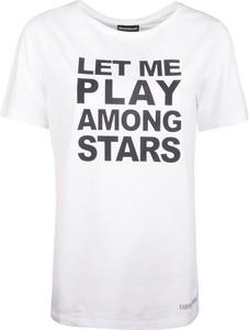 T-shirt Emporio Armani z okrągłym dekoltem z tkaniny z krótkim rękawem