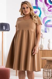 Sukienka KARKO mini hiszpanka w stylu casual