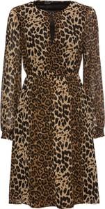 Brązowa sukienka bonprix BODYFLIRT w stylu casual z dekoltem w kształcie litery v mini